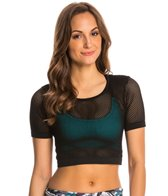 Onzie Seamless Mesh Yoga Crop Top