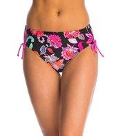 Beach Diva Swimwear Havana Bloom Adjustable Side Hi Waist Bikini Bottom