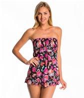 Beach Diva Swimwear Havana Bloom Smocked Swimdress