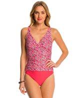 Beach Diva Swimwear City Lights Shirred Surplice One Piece Swimsuit