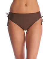 Beach Diva Swimwear Signature Solid Adjustable Side Hi Waist Bikini Bottom