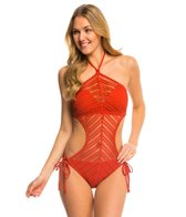Robin Piccone Sophia Crochet One Piece Monokini Swimsuit