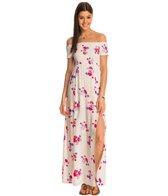 MINKPINK Falling Blooms Off Shoulder Maxi Dress