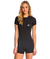 Billabong Women's 1mm Synergy Front Zip Cap Sleeve Spring Suit Wetsuit