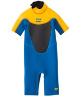 Billabong Toddler Boys' 2mm Foil Back Zip Short Sleeve Spring Suit Wetsuit