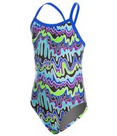 Dolfin Girls' Winners Camino V-2 Back One Piece Swimsuit