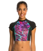 Dolfin Bellas Mystik Crop Top Rashguard Swimsuit