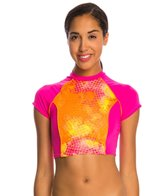 Dolfin Bellas Splash Crop Top Rashguard Swimsuit