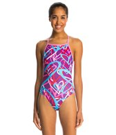 Dolfin Uglies Crazy Hearts V-2 Back One Piece Swimsuit