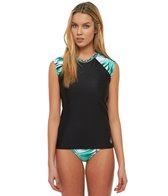 Body Glove Breathe Women's Tropi-Cal Exhale Cap Sleeve Rash Guard