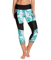 Body Glove Breathe Women's Tropi-Cal Seven Seas Hybrid Capri Legging