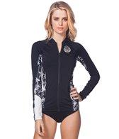 Rip Curl Women's Wetty Front Zip Long Sleeve Rash Guard