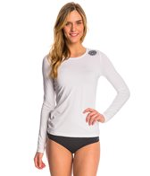 Rip Curl Women's White Wash Loose Fit Long Sleeve Surf Shirt