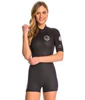 Rip Curl Women's 2mm Dawn Patrol Back Zip S/S Springsuit Wetsuit
