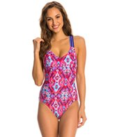 Reebok Zamora Taylor Piped One Piece Swimsuit