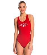 Waterpro Lifeguard Wide Strap One Piece Swimsuit