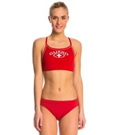 Waterpro Lifeguard Thin Strap Piped Two Piece Bikini Swimsuit Set