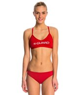 Waterpro Lifeguard Cross Back Two Piece Swimsuit Set
