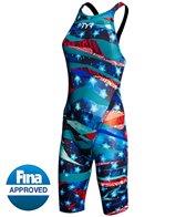 TYR Limited Edition Avictor Omaha Nights Female Open Back Kneeskin Tech Suit