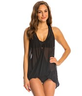 Luxe by Lisa Vogel Tough Love Mesh Tunic Tankini Top