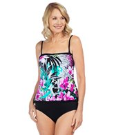 Maxine Tropic Dreams Ruffled Tankini Top