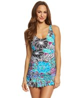 Maxine Tahitian Floral Shirred Swimdress