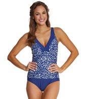Maxine Spot Off Shirred Side One Piece Swimsuit