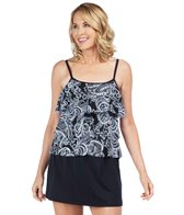 Maxine Paisley Lane Tiered Tankini Top