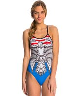 Triflare Women's Stars and Stripes One Piece Swimsuit