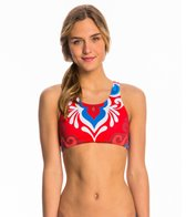 Triflare Women's USA Beauty Sport Bikini Top