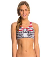 Triflare Women's Stars and Stripes Sport Bikini Top