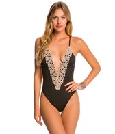 Blue Life Eclipse Plunge One Piece Swimsuit