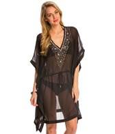 Pia Rossini Oriana Embellished Sheer Cover Up Kaftan