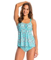 Athena Swimear Mosaic Tile Floating Underwire Tankini Top