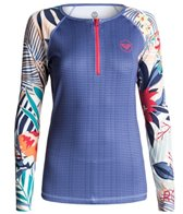 Roxy Women's Bliss Long Sleeve Zip Rash Guard