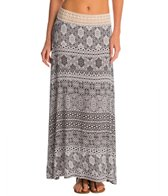 Lavish Boho Printed Maxi Cover Up Skirt