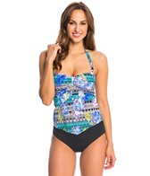 Kenneth Cole Reaction Hot Tropic Bandeau Tankini Top
