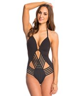 Kenneth Cole Stompin In My Stiletto's Push Up Strappy One Piece Swimsuit