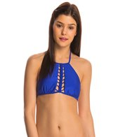 Luli Fama Swimwear Kiss The Wave Halter Bikini Top
