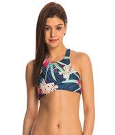 Stone Fox Swim Aloha Daze Bambi High Neck Crop Top
