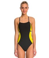 Speedo PowerPlus Sprint Splice Free Back One Piece Swimsuit