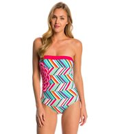 Coco Rave Summer Patch Ariana Bandeau One Piece Swimsuit