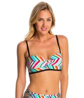 Coco Rave Swimwear Summer Patch Peek-a-Boo Underwire Bralette Bikini Top