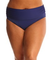 BLEU Rod Beattie Plus Size Solid Midster Bikini Bottom