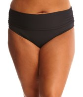 BLEU Rod Beattie Plus Size Solid Midster Bikini Bottom