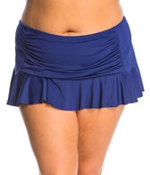 BLEU Rod Beattie Plus Size Jet, Set, Go Skirted Bikini Bottom