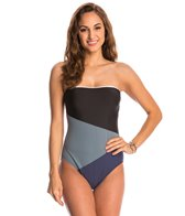 Nautica Block and Tackle Bandeau One Piece Swimsuit