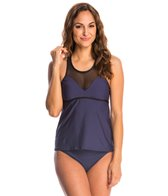 Nautica Swimwear Net Effect Tankini Top