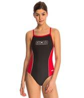 Dolfin Lifeguard Color Block V-2 Back One Piece Swimsuit