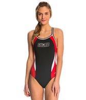 Dolfin Lifeguard Color Block DBX Back One Piece Swimsuit